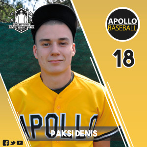 Apollo Baseball - Paksi Denis, #18