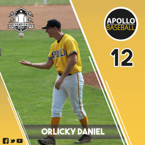 Apollo Baseball - Orlicky Daniel, #12