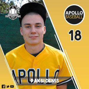 Apollo Baseball - Paksi Denis, #18